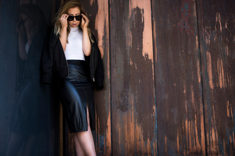 bomber-jacket-leather-skirt