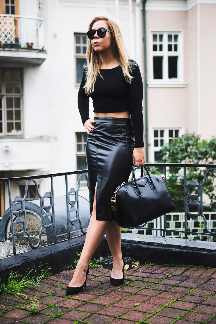 crop-top-leather-skirt