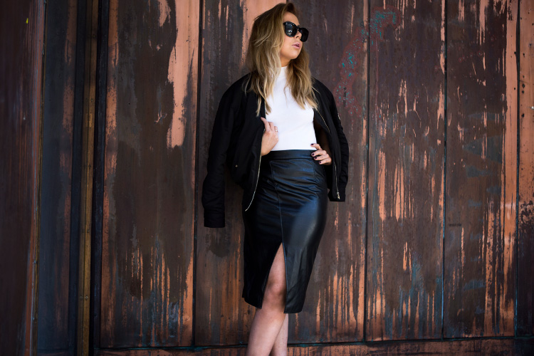 leather-skirt-bomber-jacket