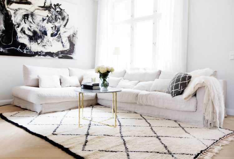 beni ouarain carpet in our living room alexa dagmar alexa dagmar. Black Bedroom Furniture Sets. Home Design Ideas